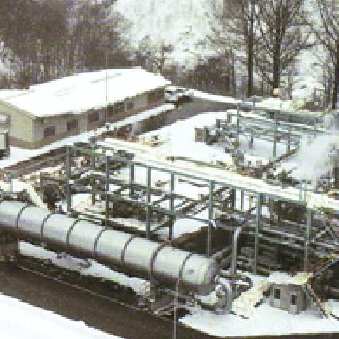 地熱プラント排湯利用システム